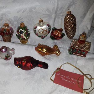 Glass Christmas Bride's Collection Ornament Set 11